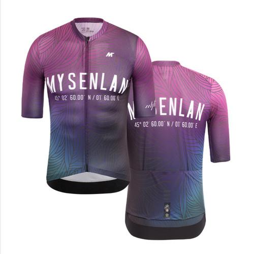 Foto Produk Jersey Men Mysenlan Neon Wave MCQSS007A Purple Short Sleeve dari FittoBike