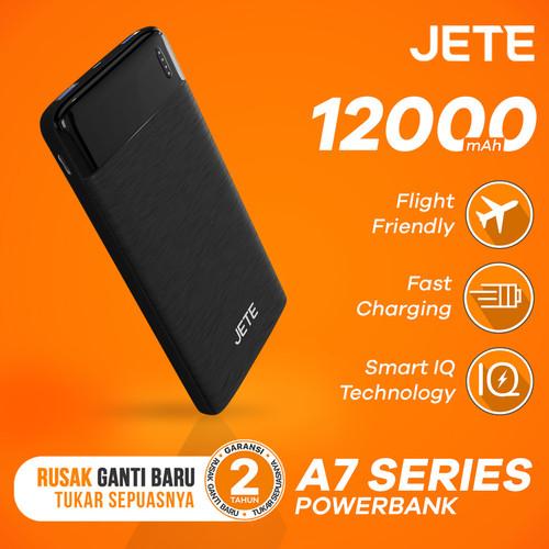 Foto Produk Powerbank JETE A7 12000 mAh Fast Charging & Smart IQ Garansi 25 Bulan dari JETE Official Surabaya