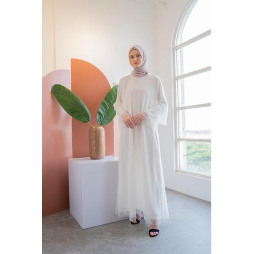 Foto Produk Nafashakila Eliza Dress Abaya Muslim Putih dari nafashakila