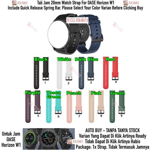 Foto Produk P20Q Tali Jam 20mm Watch Strap OASE Horizon W1 - Rubber Silikon Halus - Green dari JM Cell Surabaya