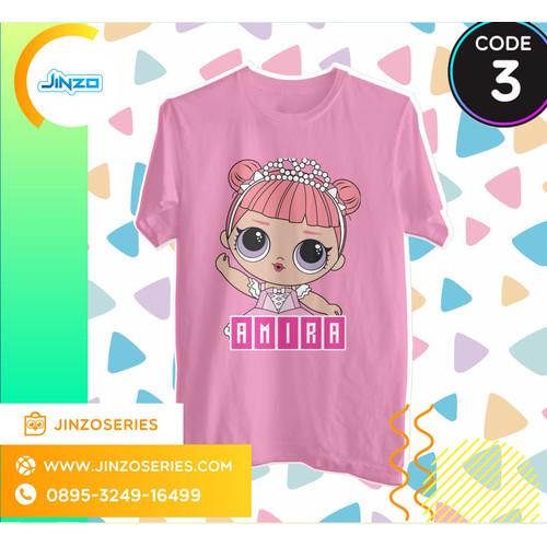 Foto Produk Kaos Anak LOL Surprise 3 Qri Nama - Hitam, 2 dari Jinzo Series
