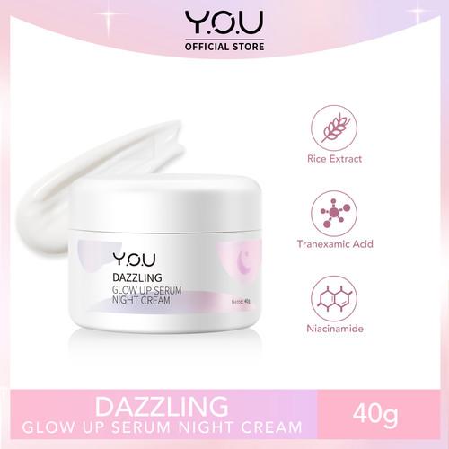 Foto Produk YOU Dazzling Glow up Serum Night Cream 40 Gr dari YOU Beauty Official