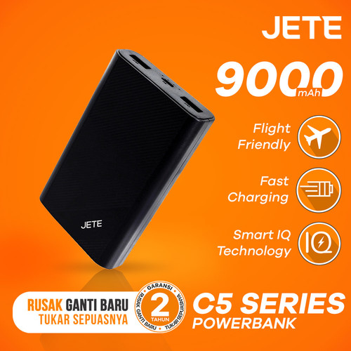 Foto Produk Powerbank JETE C5 5000 mAh Garansi Resmi 1 Tahun - Putih dari JETE Official Surabaya