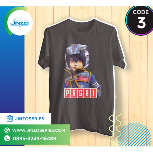 Foto Produk Kaos Anak Boboi Boy Galaxy 3 kapten kaizo Nama - Hitam, 2 dari Jinzo Series