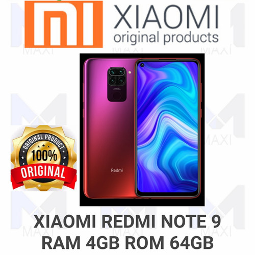 Foto Produk Xiaomi Redmi Note 9 4/64 Ram 4gb Rom 64gb Garansi Resmi - Merah dari Maxi phone cell