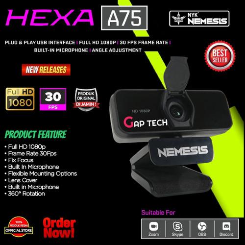 Foto Produk NYK NEMESIS HEXA A75 / A 75 / A-75 Webcam With 1080p Full HD 30Fps dari GAP TECH OFFICIAL