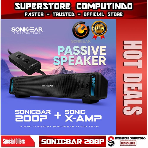 Foto Produk SonicGear 200P Powerful SoundBar Sonicbar with Brilliant Light Effect - NO BLUETOOTH dari SuperStore Computindo