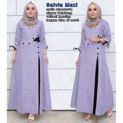 Foto Produk Salvia Maxi(XL, XXL) 4 warna, Pakaian gamis maxi muslim wanita - Talas, L dari Absolute Price
