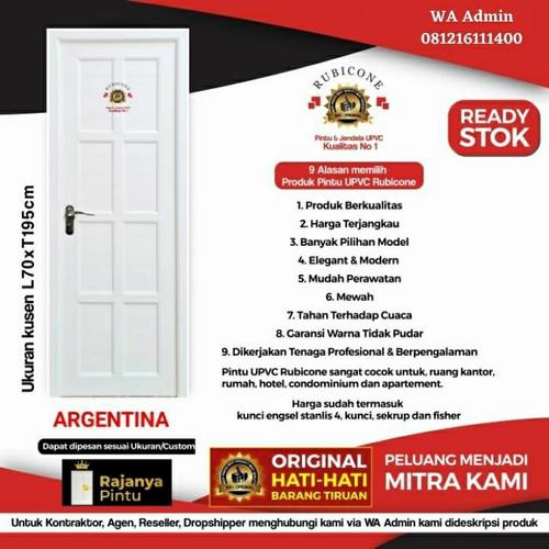 Foto Produk Pintu UPVC Rubicon Argentina RC 10 - Engsel Kiri, Kunci Bulat Eng dari rajanyapintusby