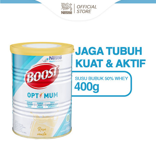 Foto Produk Boost Optimum Susu Bubuk Kaleng 400gr dari Nestle Indonesia