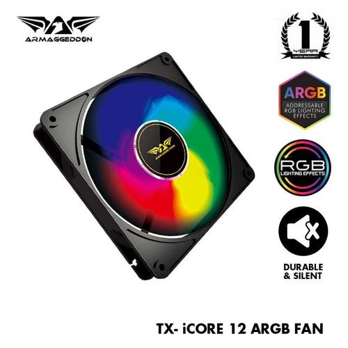 Foto Produk Armaggeddon Tessaraxx TX-iCore ARGB Fan | Support Aura Sync - 1 FAN, size 12cm dari Armaggeddon Official