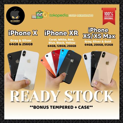 Foto Produk iPhone X   XR  XS   XS Max 64gb 128gb 256gb 512gb Bekas Fullset Second - iPhone X, 64GB dari Big Berry Cellular