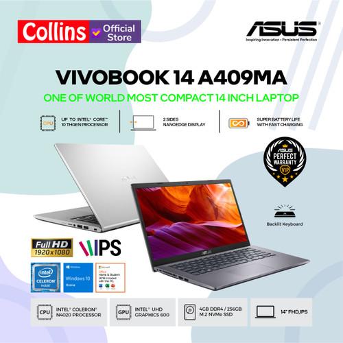 "Foto Produk LAPTOP ASUS VIVOBOOK 14 A409MA - N4020 4GB 256GB 14"" INTEL UHD W10 OHS - 14"" HD dari Collins Official"