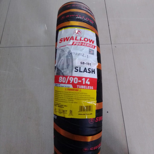 Foto Produk Ban Swallow Slash 14 80/90 SB151 Soft Compound Racing Balap Tubeless dari kems jaya motor
