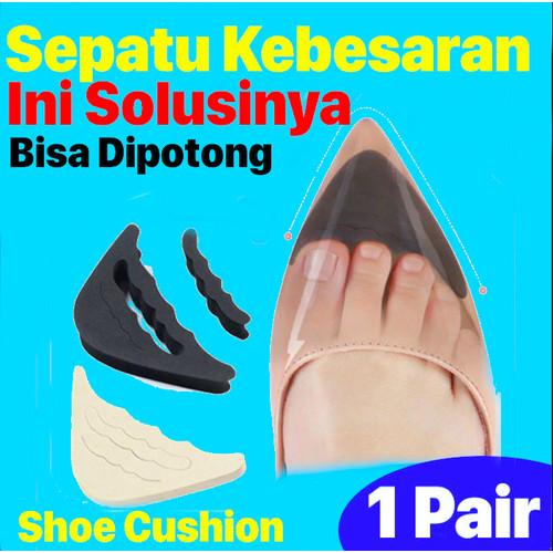 Foto Produk Insole Pengganjal Ganjelan Sepatu Longgar Kebesaran - Bantalan Sepatu - Hitam dari Shoe Care Indo