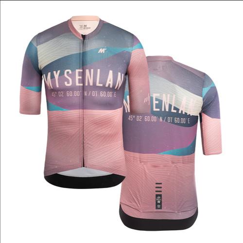 Foto Produk Jersey Men Mysenlan Summer Night MCQSS011A Lotus Pink Short Sleeve dari FittoBike