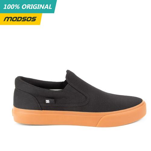 Foto Produk Sepatu Slip On Pria DC Trase Black Gum Original dari Modsos