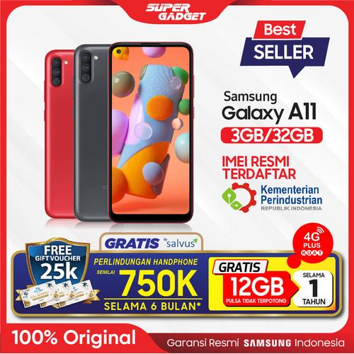 Foto Produk Samsung A11 3/32 GB Galaxy Smartphone RAM 3 ROM 32 3/32GB Murah Resmi - Hitam, Non Bundle dari SUPER_GADGET