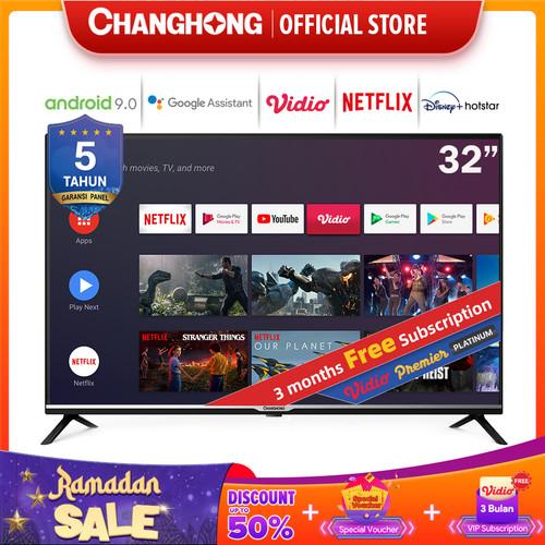 Foto Produk Changhong Google certified Android Smart TV 32 inch 32H4 LED TV-L32H4 dari Changhong Official