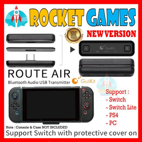 Foto Produk GULIkit Route+ Air Bluetooth Adapter Nintendo Switch Lite PS4 - Black dari Rocket games