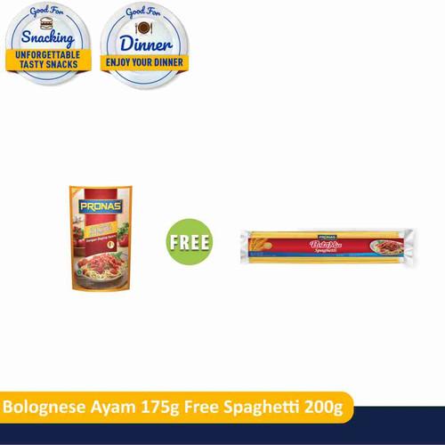 Foto Produk PRONAS Bolognese Ayam 175 gr (1pcs) Free Spaghetti 200 gr (1pcs) dari Pronas Official Store