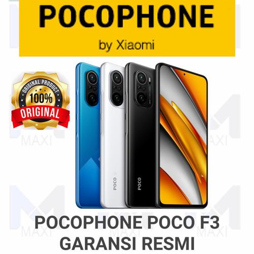 Foto Produk Pocophone Poco F3 NFC 6/128 Ram 6GB Rom 128GB Garansi Resmi - NIGHT BLACK dari Maxi phone cell