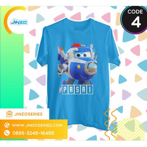 Foto Produk Kaos Anak Super Wings 4 Paul Nama - Hitam, 2 dari Jinzo Series
