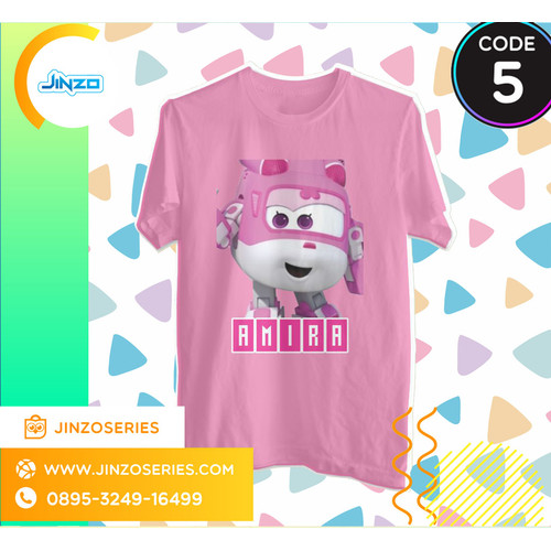 Foto Produk Kaos Anak Super Wings 5 Dizzy Nama - Hitam, 2 dari Jinzo Series