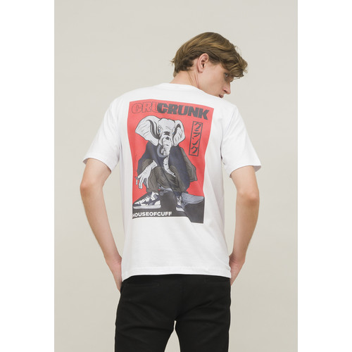 Foto Produk Kaos Putih white crunk T shirt regular fit cotton houseofcuff dari House of Cuff