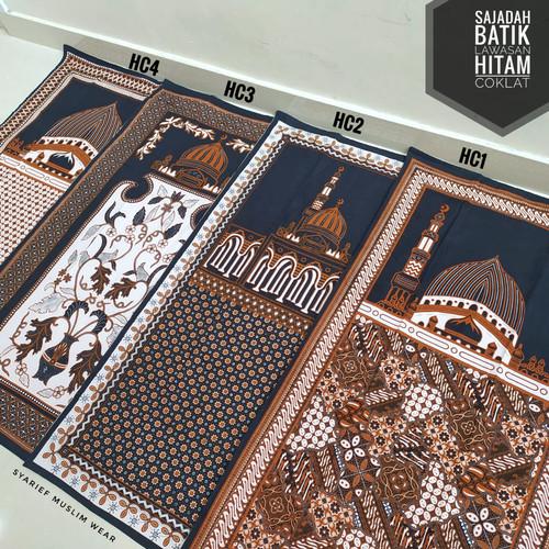 Foto Produk Sajadah Batik Halus - Motif Lawasan | Ukuran Standar - Hitam Coklat dari Syarief Muslim Wear