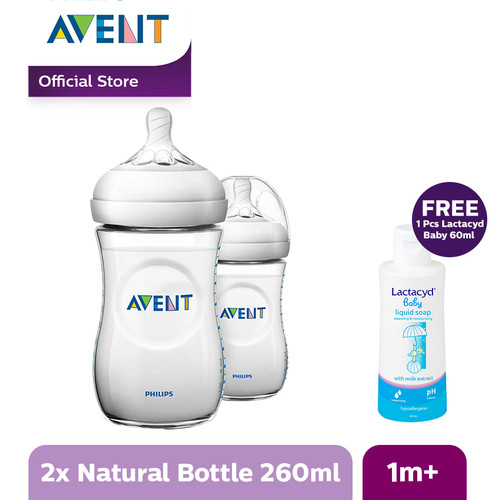 Foto Produk Philips Avent BOTTLE NATURAL 2.0 260ML/9OZ TWIN PACK SCF693/23 - Putih dari Philips e-Store