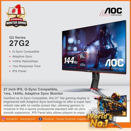 "Foto Produk AOC 27G2 IPS 1ms 144Hz G-Sync Compatible GAMING MONITOR 27"" dari YOUNGS COMPUTER"