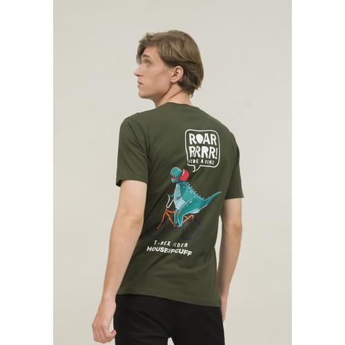 Foto Produk kaos pria unisex hijau army T shirt dino hingga size 4XL houseofcuff dari House of Cuff