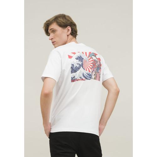 Foto Produk Kaos putih pria t shirt white japan wave hingga size 4XL houseofcuff dari House of Cuff