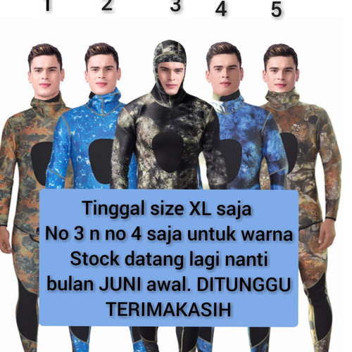 Foto Produk Wetsuit Scuba Diving (Myledi) Camouflage 3mm - 3 in 1 style dari Vacay Point
