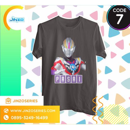 Foto Produk Kaos Anak Ultraman 7 Orb Origin Nama - Hitam, 2 dari Jinzo Series