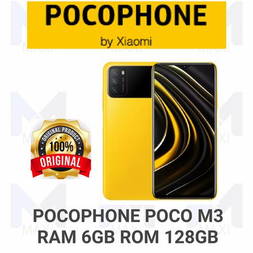 Foto Produk Pocophone Poco M3 6/128 Ram 6GB Rom 128GB Garansi Resmi - Yellow dari Maxi phone cell
