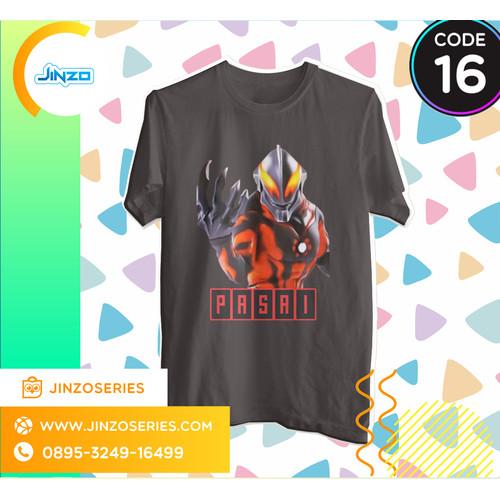 Foto Produk Kaos Anak Ultraman 16 Bellial Nama - Hitam, 2 dari Jinzo Series
