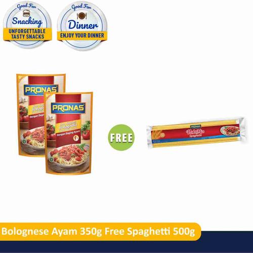 Foto Produk PRONAS Bolognese Ayam 350 gr (2pcs) Free Spaghetti 500 gr (1pcs) dari Pronas Official Store