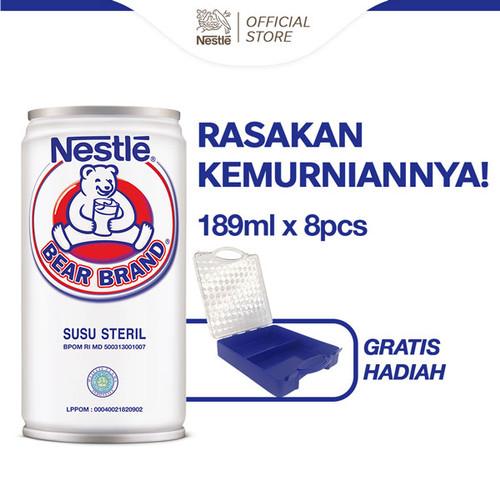 Foto Produk NESTLÉ BEAR BRAND Minuman Siap Minum 189ml 8 pcs Gratis Benevolence dari Nestle Indonesia