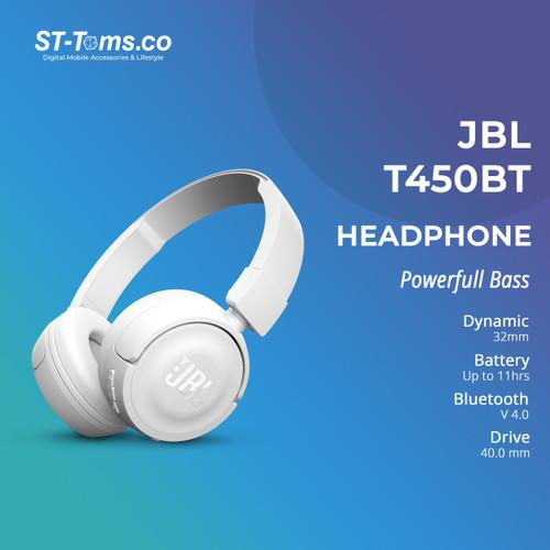Foto Produk JBL Wireless On-Ear Headphone T450BT - Putih dari ST-Toms.co