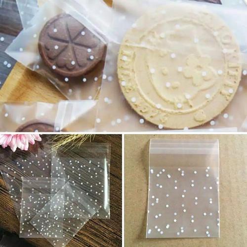 Foto Produk Plastik Kue Kering dengan Perekat Putih OPP Uk. 7x7+3cm - 7x7cm dari FJ Collection Packaging