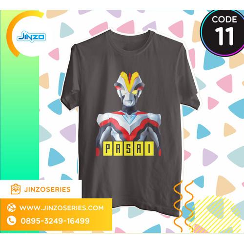 Foto Produk Kaos Anak Ultraman 11 Victory Nama - Hitam, 2 dari Jinzo Series