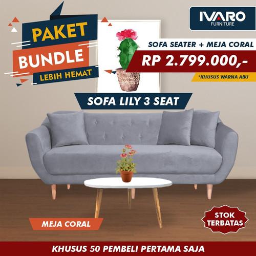 Foto Produk Ivaro Sofa 3 Seater Lily Scandinavian dari Ivaro Furniture