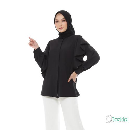 Foto Produk Atasan Muslim Wanita | Calista Blouse Hitam | S M L XL | Tazkia Hijab - M dari Tazkia Hijab Store