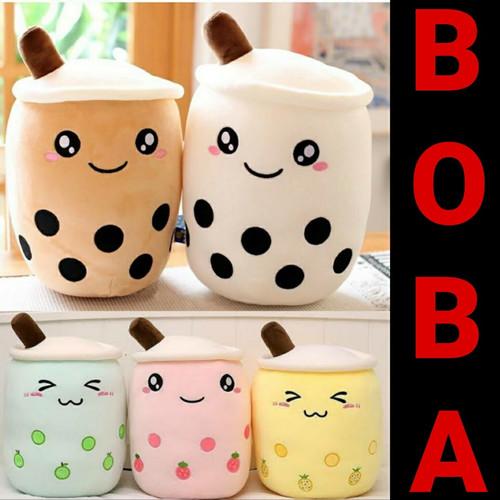 Foto Produk Boneka Boba Milk Tea Plush Ukuran L Harga Promo Murah Bahan Yelvo - Putih dari catra collection 3