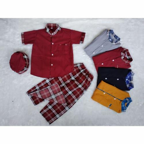 Foto Produk sarkoci/sarung koko peci/baju muslim anak laki laki usia 2-5 tahun dari widy aqila store