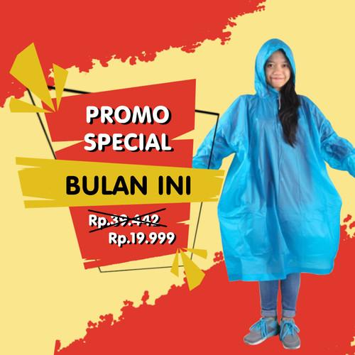 Foto Produk Jas Hujan Karet Murah Poncho TRIP RS 66014 Ralen Star bkn sekali pakai - Hitam dari Langit Biru