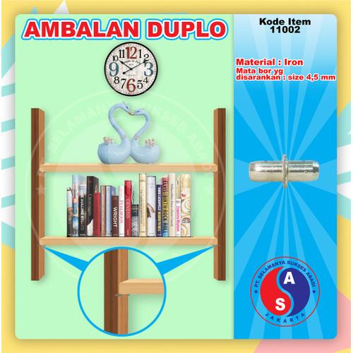 Foto Produk Ambalan Kayu Duplo WINSTON Kecil Braket Penyangga Coating Chrome dari WINSTON-OK OFFICIAL STORE