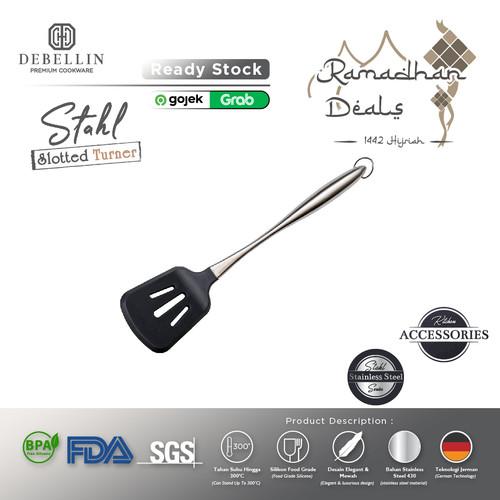 Foto Produk Debellin Stahl Spatula Slotted Turner - Sutil Silikon Food Grade dari Debellin Cookware